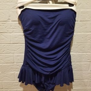 Ralph Lauren royal blue swim suit